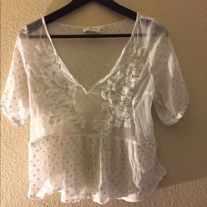 Abercrombie & Fitch see-through blouse